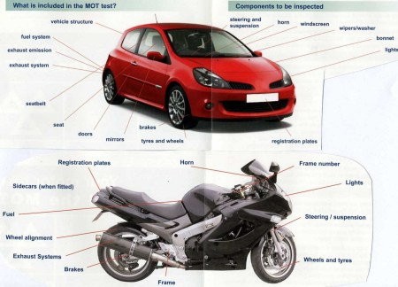 car and motorbike mots
